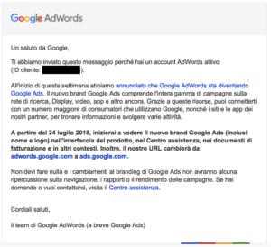 da AdWords a Google Ads
